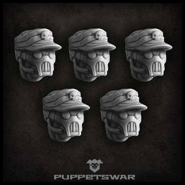 Masked patrol cap heads
