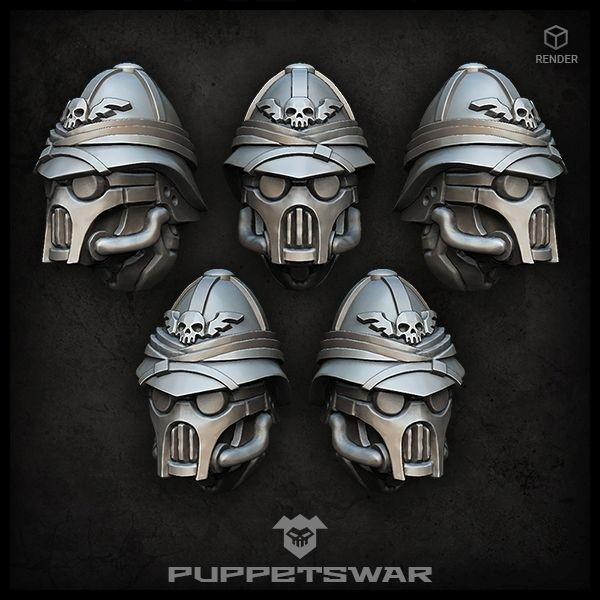 Masked Colonial Troopers Heads