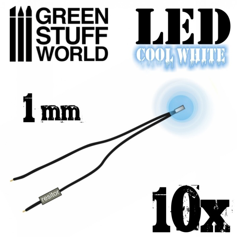 Cool White LED Lights - 1mm