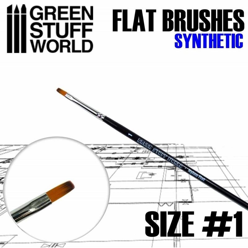 Flat Synthetic Brush Size #1