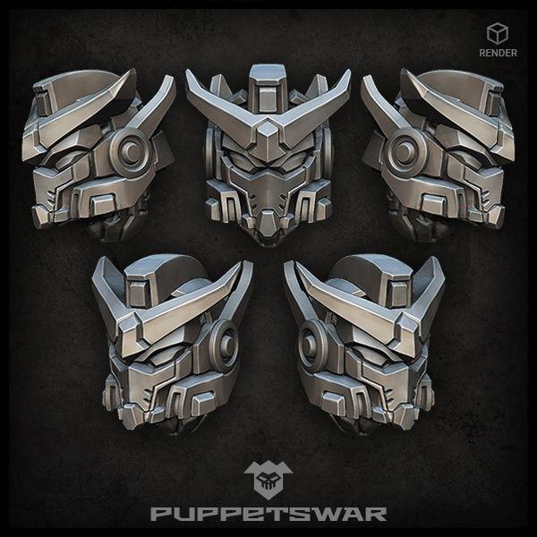 Mech Warrior helmets