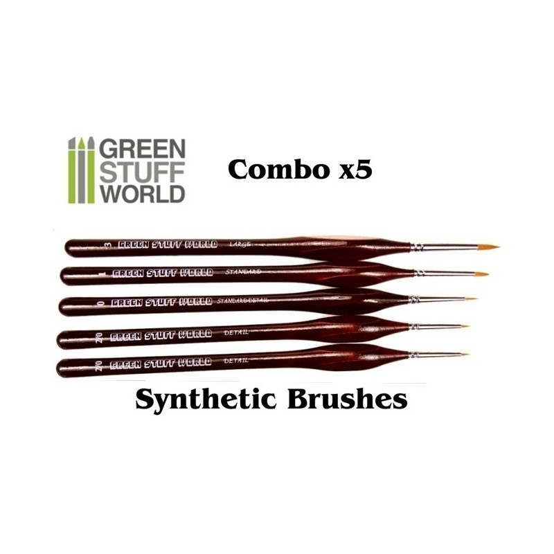 Brushes COMBO x5 Synthetic