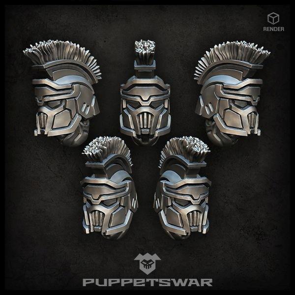 Masked Praetorian helmets
