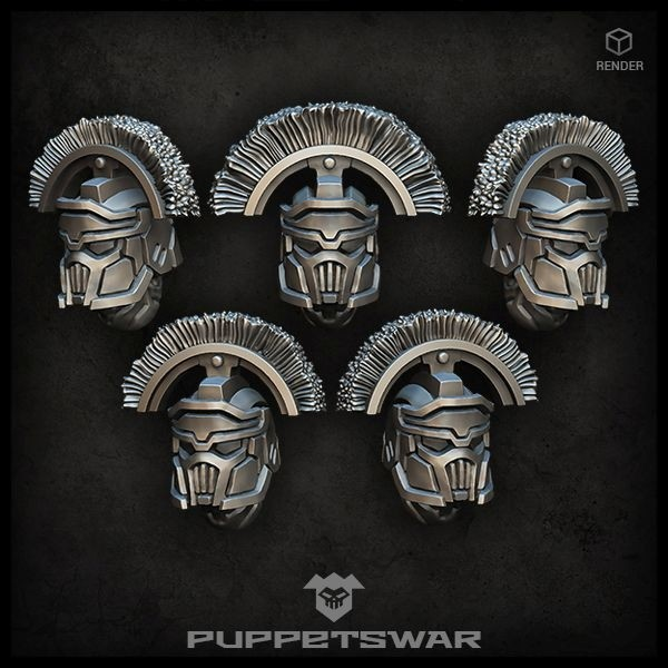 Masked Centurion helmets