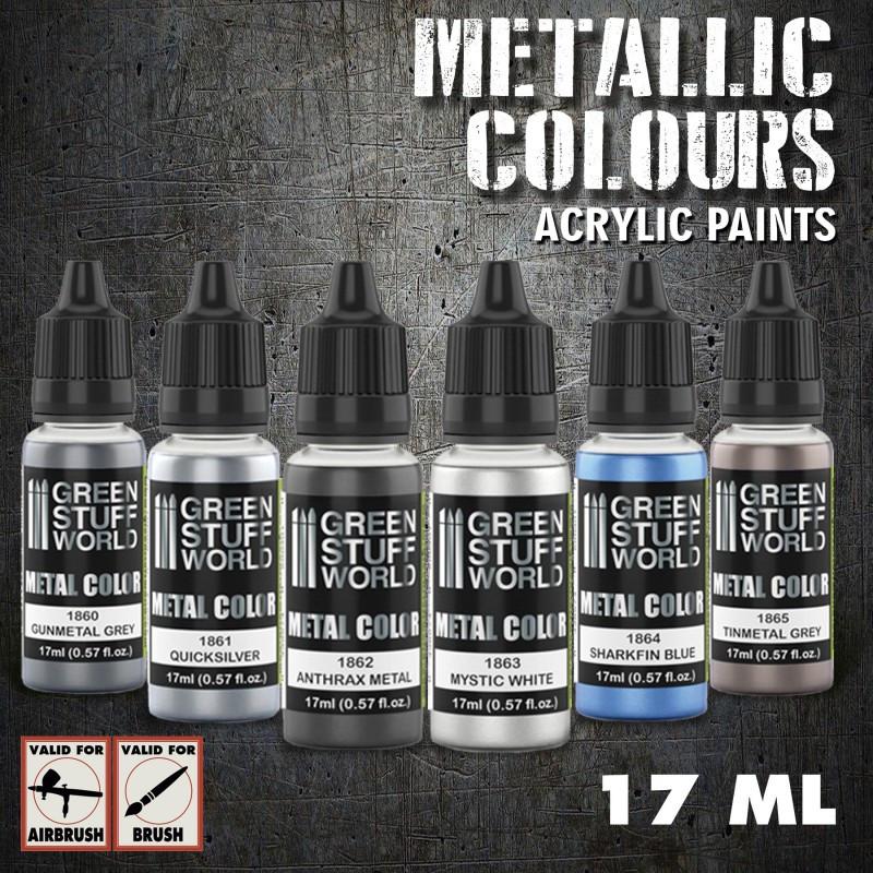 Metallic Paints Set - Silver