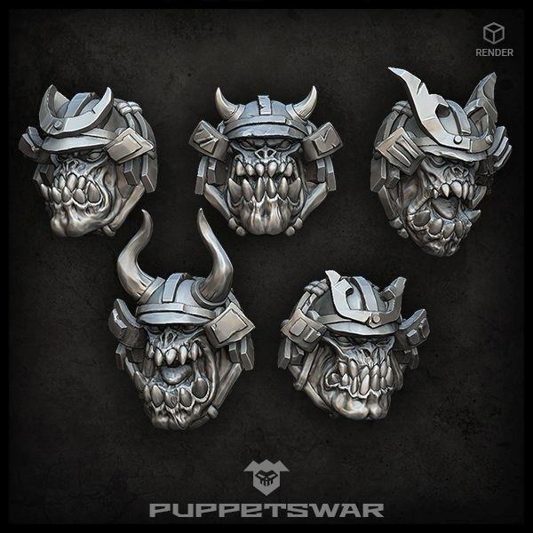 Samurai Orc Heads