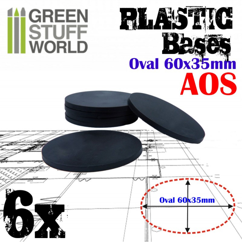 Plastic Bases - Oval Pill 60x35mm