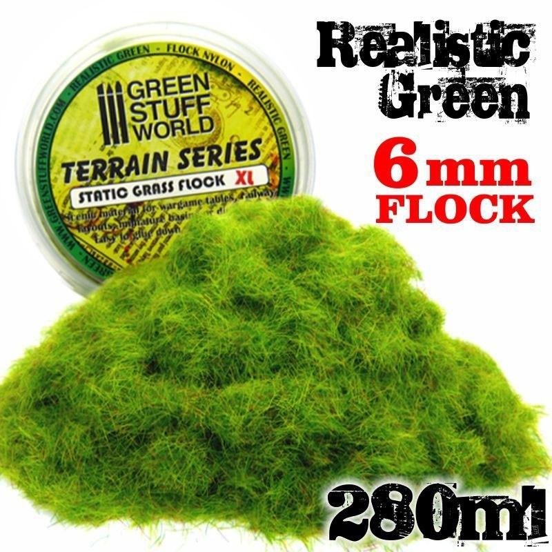 Static Grass Flock - Realistic Green 6mm - 280ml