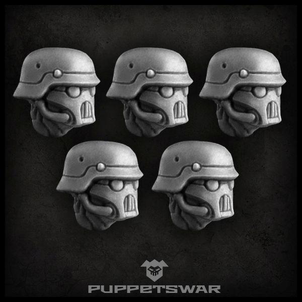 Masked Sturmpioniere heads