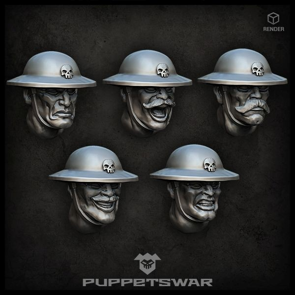 Trench Troopers heads