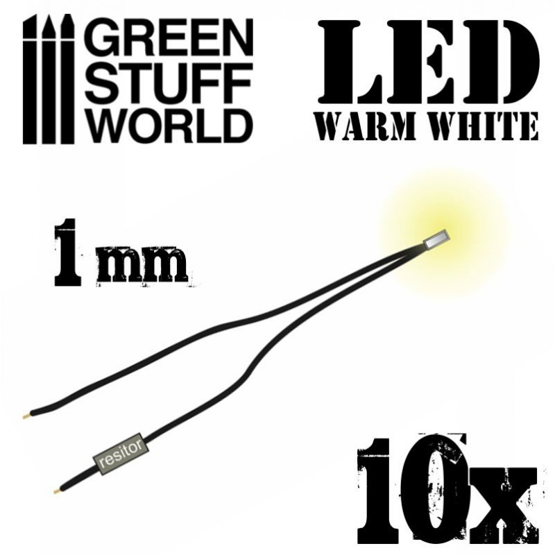 Warm White LED Lights - 1mm