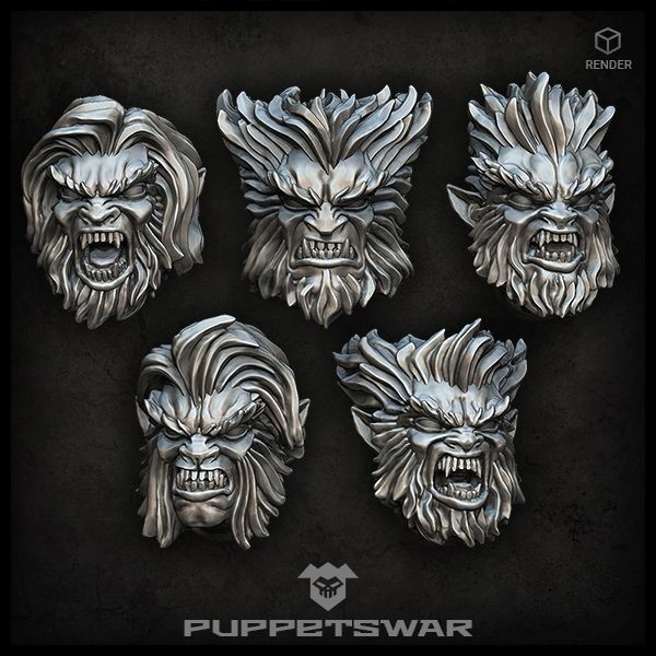 Werewolf heads