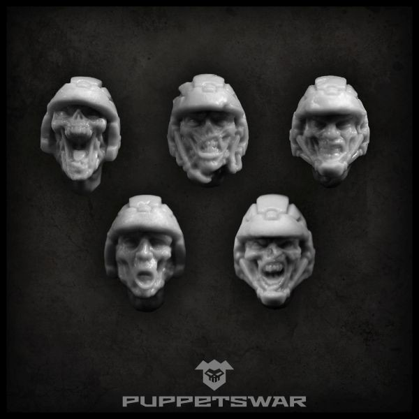 Zombie Troopers heads