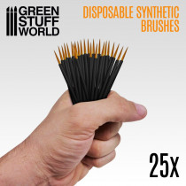 25x Disposable Synthetic Brushes