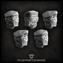 Masked Beret heads