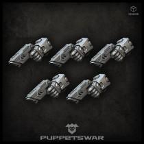 Laser pistols (left)