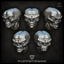Gray Alien Heads