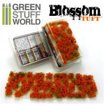 Blossom TUFTS - 6mm self-adhesive - ORANGE Flowers