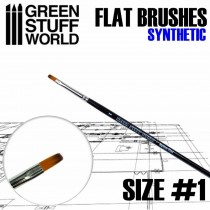 Flat Synthetic Brush Size #1