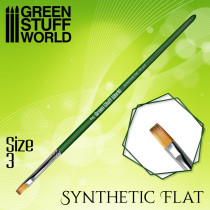 GREEN SERIES Flat Synthetic Brush Size 3