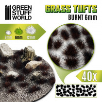 Grass TUFTS - 6mm self-adhesive - BURNT