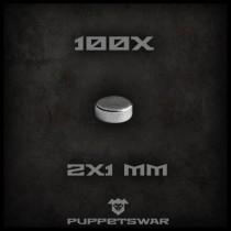Magnets 2x1mm (100x)