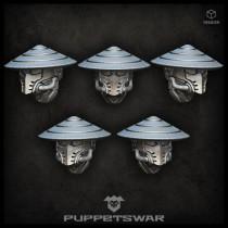 Masked ashigaru heads