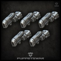 Plasma pistols (left)