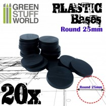 Plastic Bases - Round 25mm