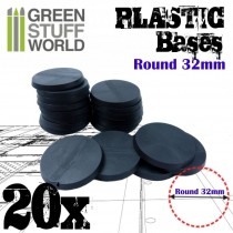 Plastic Bases - Round 32mm