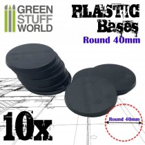 Plastic Bases - Round 40mm