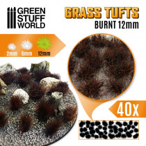 Grass TUFTS - 12mm self-adhesive - BURNT