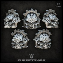 H.I. Tech skull shoulder pads (pre-order)