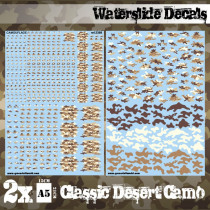 Waterslide Decals - Classic Desert Camo