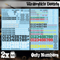 Waterslide Decals - Only Numbers