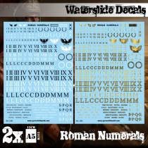 Waterslide Decals - Roman Numerals